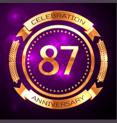 Eighty seven years anniversary celebration with vector