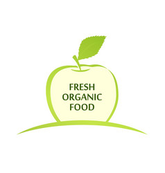 emblem of fresh organic food vector image