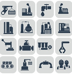 energy and industry icons set vector image