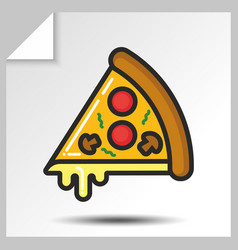 Fast food icons 8 vector
