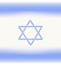 Flag of Israel Independence Day of the State of vector image
