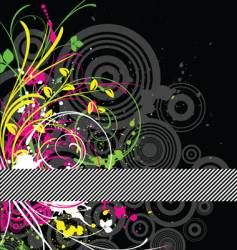 fluorescent grunge vector image