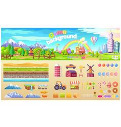 Game background set urban playground structure vector