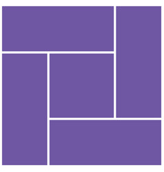 geometric frame template for photo collage vector image