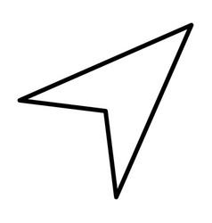 gps navigation arrow line icon vector image