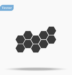 Honeycombs icon trendy flat honeycombs vector
