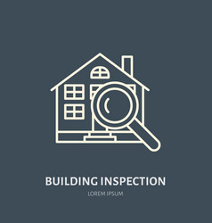 House inspection flat line icon real vector