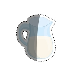 Isolated jar glass vector
