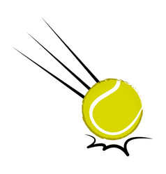 Isolated tennis ball icon vector