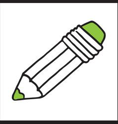 isometric icon design of pencil sketching pencil vector image
