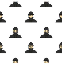 Jewish rabbi pattern flat vector
