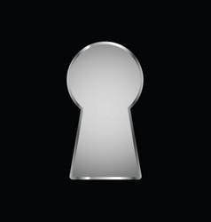 Keyhole on black background vector