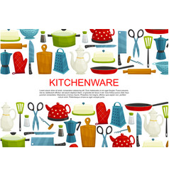 Kitchenware kitchen utensils and tool banner vector