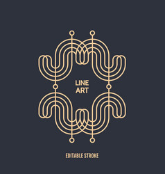 line art design invitation poster badge monogram vector image