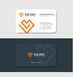 Matte business card of the charity fund vector