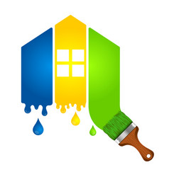 Painting a house for business vector