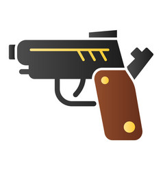 Pistol flat icon gun color icons in trendy flat vector