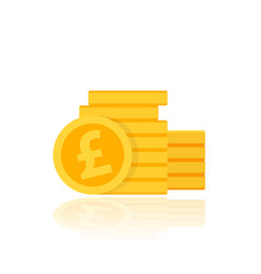 pound coins stack vector image