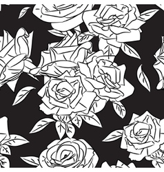 Rose blooms seamless pattern vector image