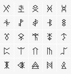 Rune icons vector