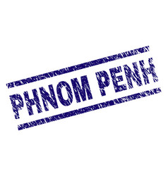 Scratched textured phnom penh stamp seal vector