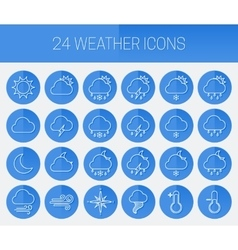 Set of linear weather icons vector