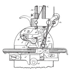 Sewing machine vintage vector