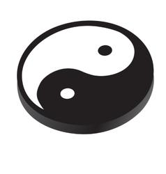 Sign yin yang symbol peace contrast harmony vector
