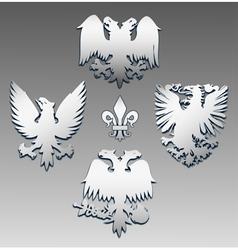 Silver eagle vector
