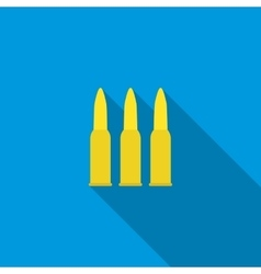 Three bullets icon flat style vector