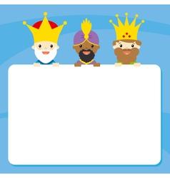 three kings vector image