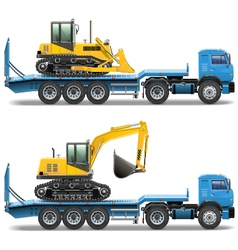 Trailer with Tractor vector image