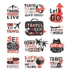 travel motivation badge logo vector image