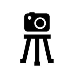 tripod camera photographic icolated icon design vector image