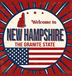 welcome to new hampshire vintage grunge poster vector image