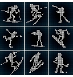 Winter Sport Icons Set vector
