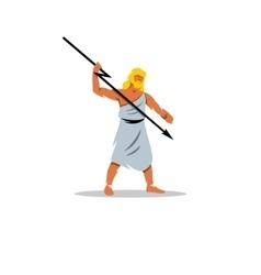 zeus sign in greek mythology king gods vector image