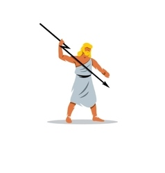 Zeus sign In Greek mythology king of gods vector image