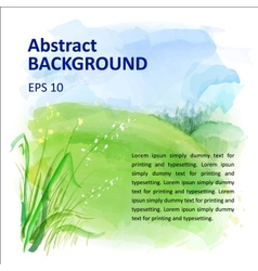 background of watercolor landscape vector image vector image