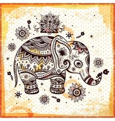 Beautiful ethnic elephant vector image vector image