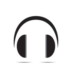 blue headphone vector image