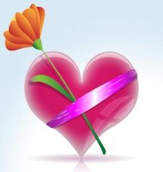 gift heart vector image vector image