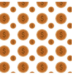Money coins background vector