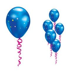 navy party balloon vector image