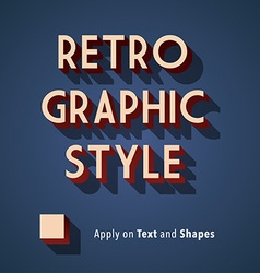 Retro Graphic Style vector image vector image