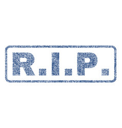rip textile stamp vector image