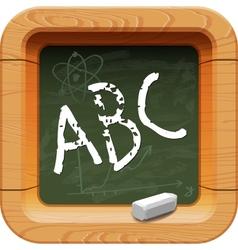 School blackboard icon vector image vector image