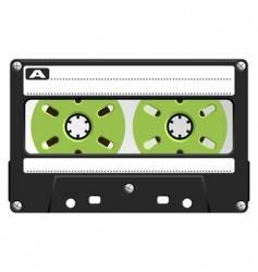 audio cassette black transparent vector image vector image