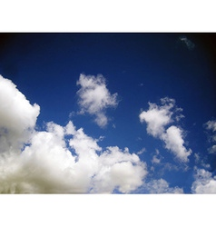 Clouds in the sky vector image
