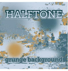 Halftones on the grunge background vector image